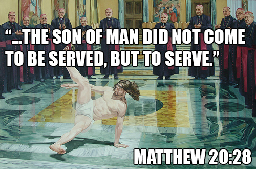 """...the Son of Man did not come to be served, but to serve."" Matthew 20:28"