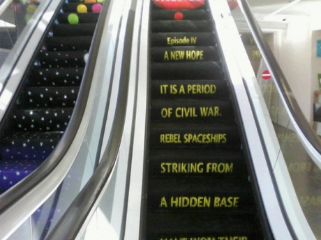 Star Wars Episode IV A New Hope Escalator words.